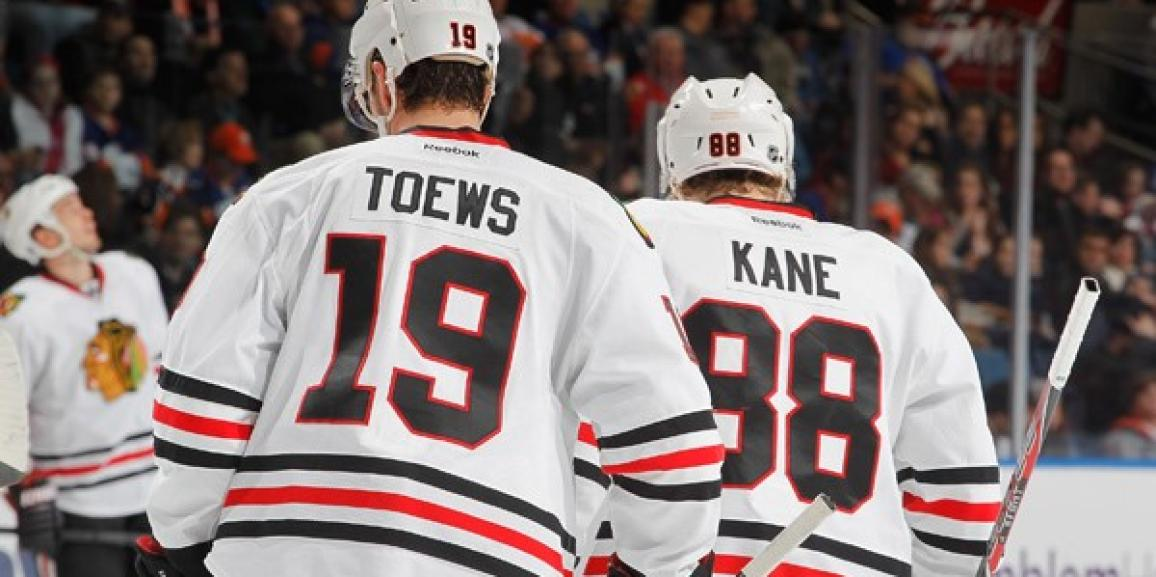 Autographed Jonathan Toews and Patrick Kane Authentic Jerseys!